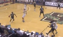 College Hoops Player Dribbles Out the Clock, Doesn't Realize His Team Is Trailing by One Point (Video)
