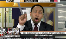 Stephen A. Smith Goes OFF on 'Irrelevant' Colin Kaepernick For Not Voting (Video)