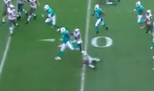 Watch 330-LB Dolphins DT Jordan Phillips Grab an INT and Hurdle an Opponent (Video)