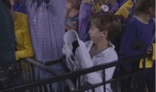 Lane Kiffin Trolls LSU Fans By Giving Them His Visor after Bama Victory (Video)