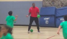 Cardinals' David Johnson Get Schooled at Dodgeball by Some Little Kids (Video)