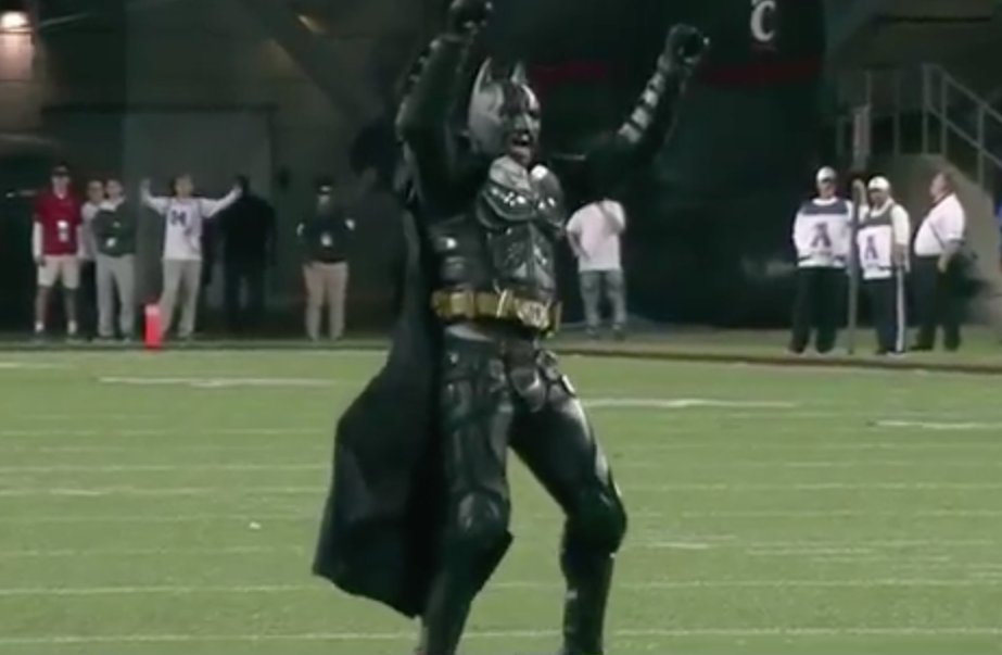 Batman Nails a 30-Yard Field Goal During Memphis ...