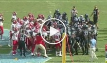 Rivalry Week: UNC And NCSU Get Into Bench-Clearing Brawl During Game (Video)