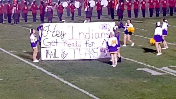 cheerleaders-trail-of-tears-banner