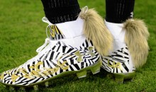 Cam Newton's Pregame Zebra Print Cleats Have Fox Tails (PICS)
