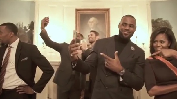 cleveland-cavaliers-mannequin-challenge-white-house-first-lady-michelle-obama