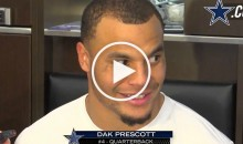 Dak Prescott Seemed Confused on Why Jerry Jones Called Him 'Daddy' (Video)