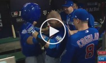 Chicago Cubs Bumped D*cks To Celebrate David Ross' Homer (Video)