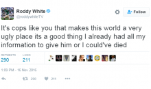 Roddy White Tweets About His Scary Encounter With Police (TWEETS)