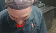 Chicago Cubs Fan Tattoos Wrigley Field's Victory Sign on His Head (PIC)