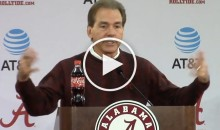 Nick Saban Goes OFF on Reporter For Thinking It's OK To Lose a Game (Video)