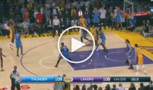 Nick Young Steals Pass From Teammate, Travels, Then Hits Game-Winning Shot (Video)