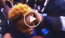 Oakland Raiders Fan Slaps Kid in The Head After Receiving Ball From Cam Newton (Video)