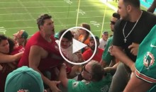 49ers Fans & Dolphins Fans Brawl in The Stands During Game (Video)