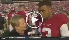 ESPN's Holly Rowe Asks Bama WR Ardarius Stewart a Question; He Just Walks Away (Video)