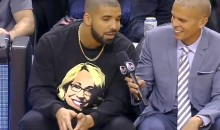 "Drake Professes Love for ESPN Reporter Doris Burke During Raptors' ""Drake Night"" (Video + Pics)"