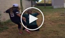 Lost Bet Got This Philadelphia Eagles Fan Kicked in The Nuts By His Wife (Video)