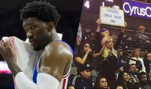 Joel Embiid Tells Chandler Parsons To Smash Lady in The Crowd Holding a Sign (PIC)