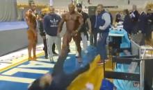 Douchebag Bodybuilder Slaps Judge After Losing Competition (Video)