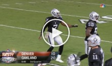 Raiders P Marquette King Broke Out The Longest Punter Celebration Ever (Video)