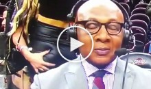 Mavs Broadcaster Derek Harper Stays Focused While Chick Grabs & Jiggles Her Friend's Ass (Video)