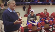 Jack Nicklaus Gives Pre-Game Pep Talk to Montreal Canadiens (Video)