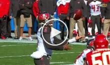 FAIL: Bucs QB Jameis Winston Pump Fakes Himself Into a Fumble (Video)