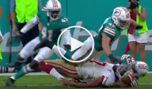 Miami Dolphins Absolutely Destroyed Colin Kaepernick On Final Play Of Game (Video)