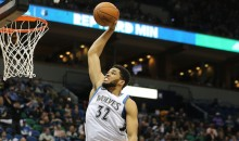 Karl-Anthony Towns with the Monster Jam of the Night Over Brooklyn's Brook Lopez (Video)