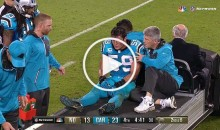 Panthers LB Luke Kuechly Cries & Gets Carted Off Field After Leg Injury (Video)