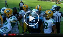 Titans-Packers Get Into Shoving Match After Late Hit on Rodgers (Video)