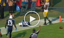 Titans Tajae Sharpe Penalized For Sleeping in End Zone After TD (Video)