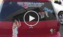 Fan Honors Steph Curry's Jump Shot With Custom Window Wiper (Video)