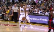 Andre Iguodala With The Most Ridiculous Alley-Oop Pass Ever…That Didn't Count (Video)