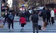 Kid With Basketball Breaks Random Girl's Ankles on the Streets of NYC (Video)