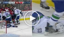 Devils and Canucks Brawl While Player Lays Unconscious; Gets Kicked in The Head (Video)