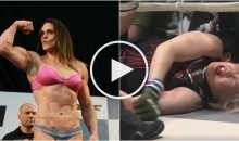 6'2, 245lb Female MMA Fighter Gabi Garcia Destroys 49-Year-Old Pro Wrestler Yumiko Hotta (Video)