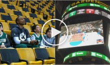 Isaiah Thomas Plays NBA 2K On TD Garden Jumbotron With Young Fan (Video)