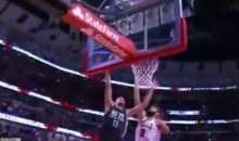 Brother-on-Brother Crime: Brook Lopez Posterized Robin (Video)