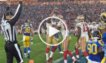 Colin Kaepernick Raised 'Black Power' Fist After Scoring Against Rams (Video)