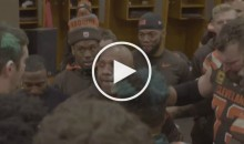Browns' Hue Jackson, Veterans Get Emotional In Locker Room After 1st Win (Video)