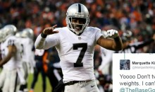 Raiders P Marquette King Claps Back at a Fan Who Said He Wasn't Making The Pro-Bowl