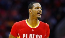 Rockets' Trevor Ariza & Teammates Wait Outside Locker Room After Mavs Player Trash Talked His Wife, Kids