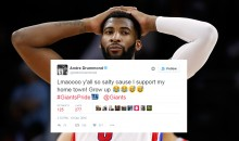 Lions Fan Calls Pistons C Andre Drummond a Traitor For Rooting For His Hometown Giants