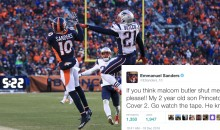 Social Media Destroyed Emmanuel Sanders After He Tried to Troll Pats CB Malcolm Butler