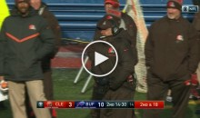 Browns Coach Hue Jackson Pulls a Jeff Fisher, Struggles To Find Challenge Flag (Video)