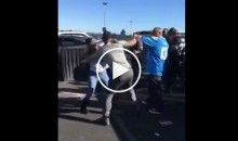 Raiders Fans And Chargers Fans Fight In The Parking Lot (Videos)