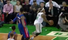 Isaiah Thomas Hits Amazing Over-The-Backboard Circus Shot…That Didn't Count (Video)