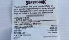 Some Dude Sold His Lamar Jackson Heisman Betting Slip for a TON of Money (Pic)