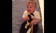 Cute Baby Will NOT Let Go of Her Sidney Crosby Jersey (Video)
